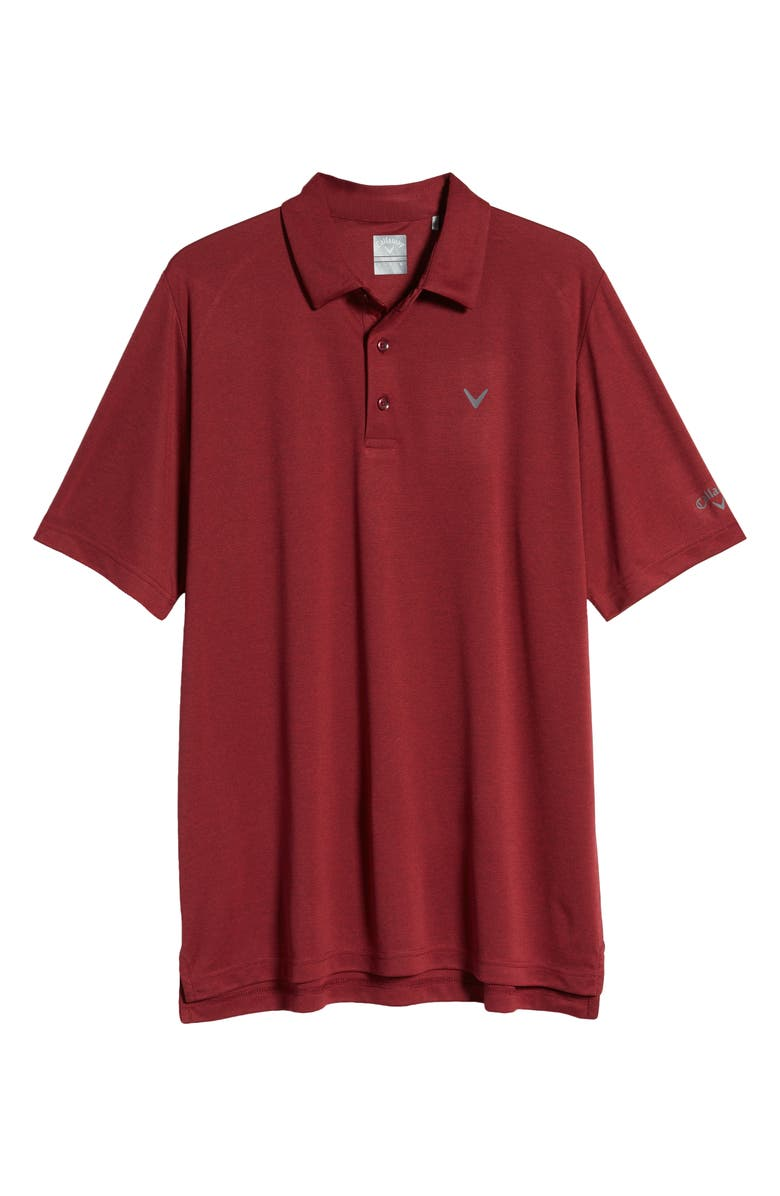 CALLAWAY GOLF<SUP>®</SUP> Soft Touch Performance Golf Polo, Main, color, RED VELVET HEATHER