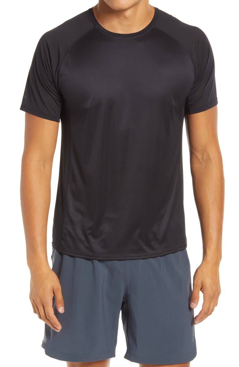 BROOKS Stealth Men's Performance Running T-Shirt, Main, color, BLACK