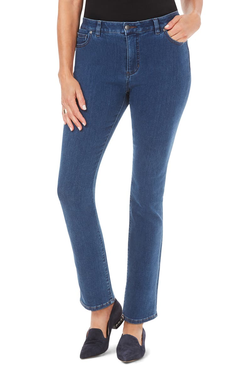 FOXCROFT Downtown Stretch Straight Leg Jeans, Main, color, CLASSIC BLUE