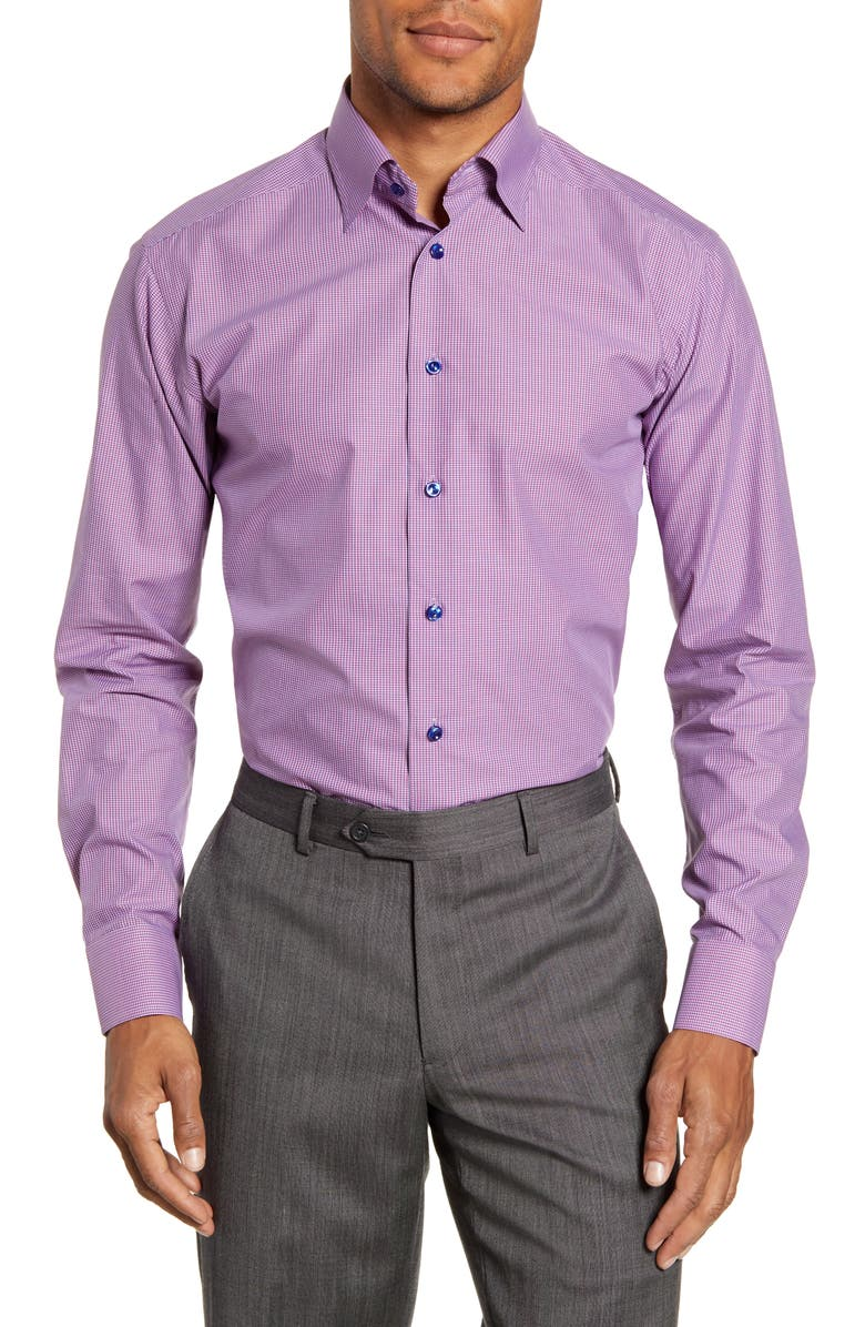 ETON Slim Fit Microcheck Print Dress Shirt, Main, color, 631