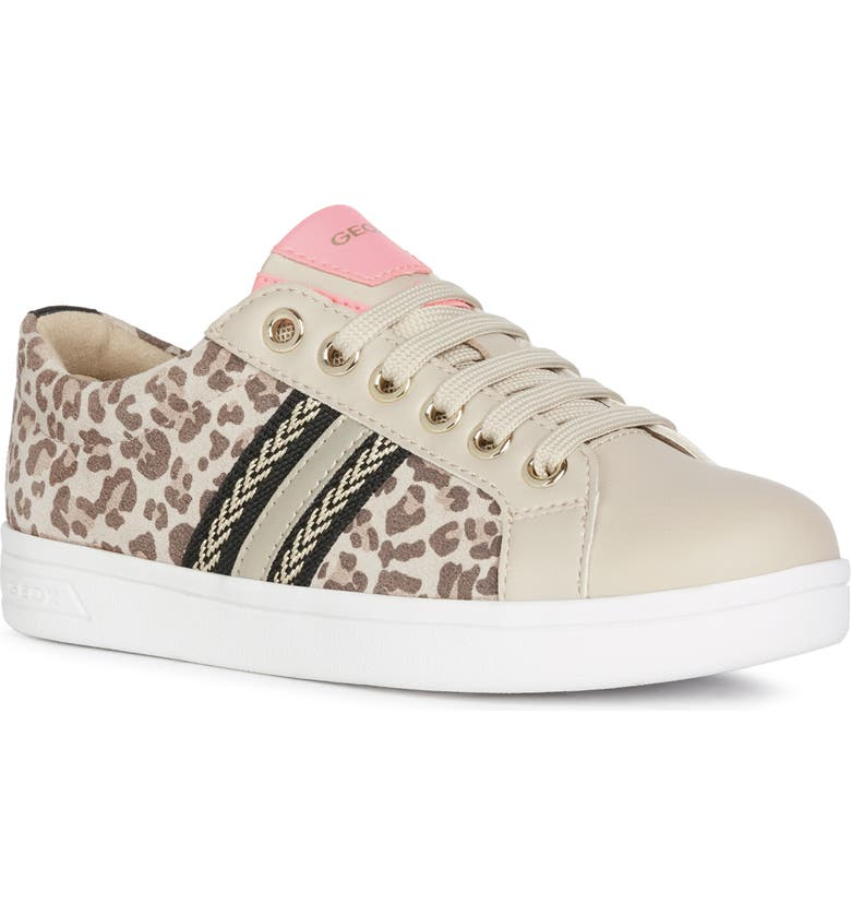GEOX DJ Rock Girl Sneaker, Main, color, BEIGE/ BROWN