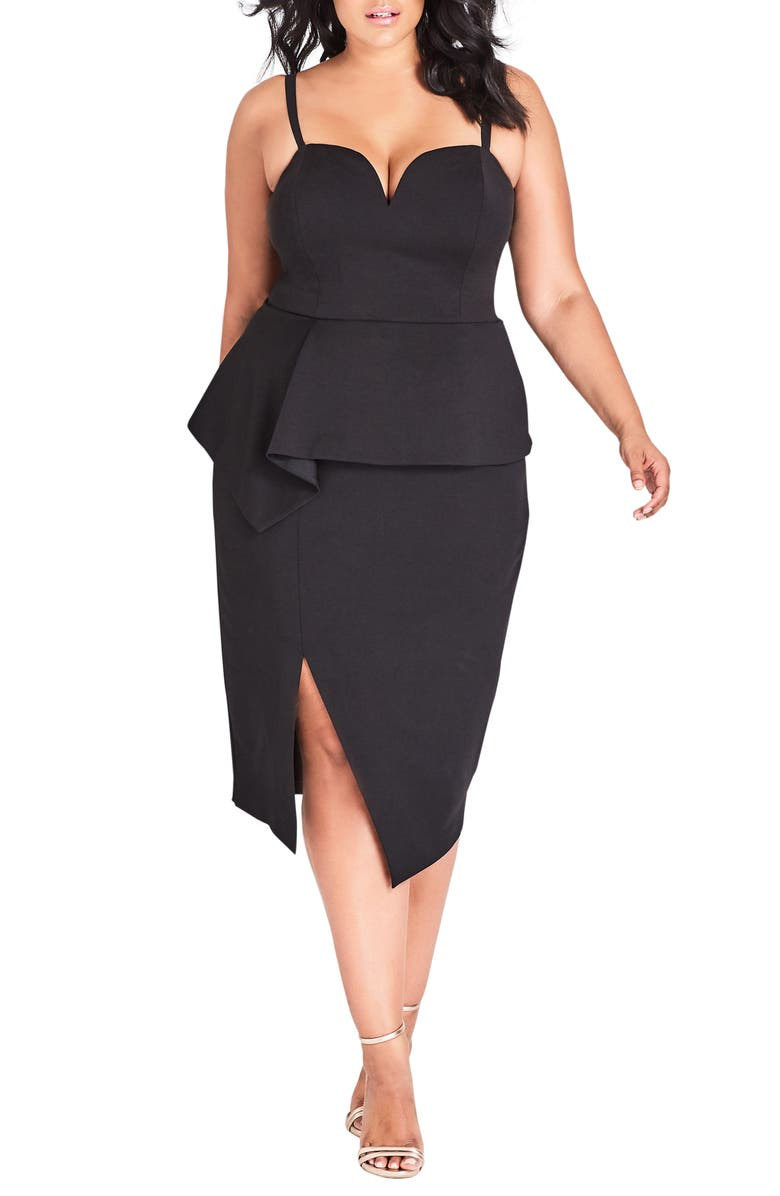 CITY CHIC Screen Siren Dress, Main, color, 001