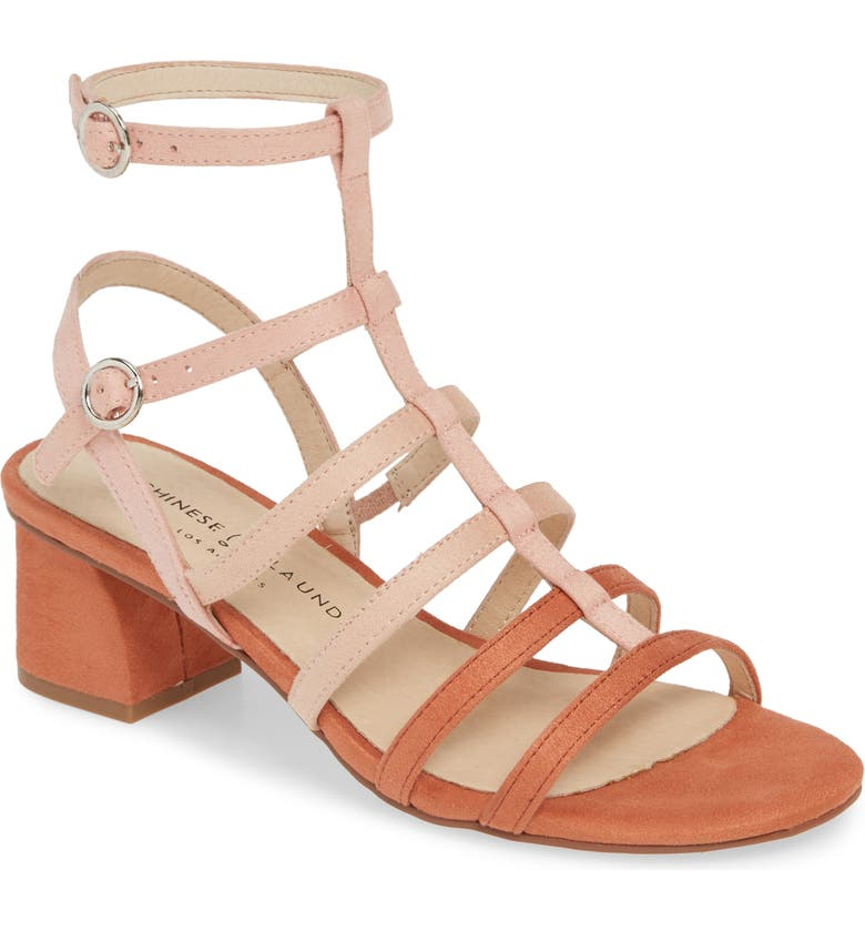 CHINESE LAUNDRY Monroe Strappy Cage Sandal, Main, color, PEACH