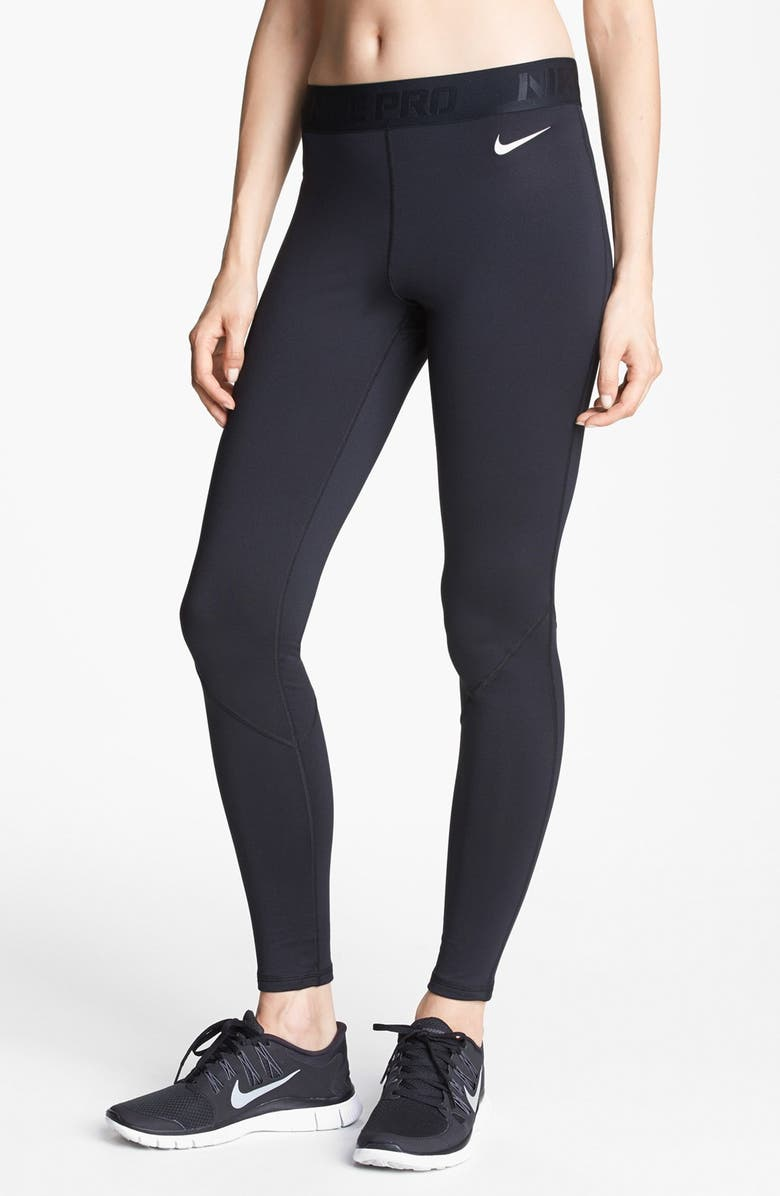 NIKE 'Pro Hyperwarm' Tights, Main, color, 001
