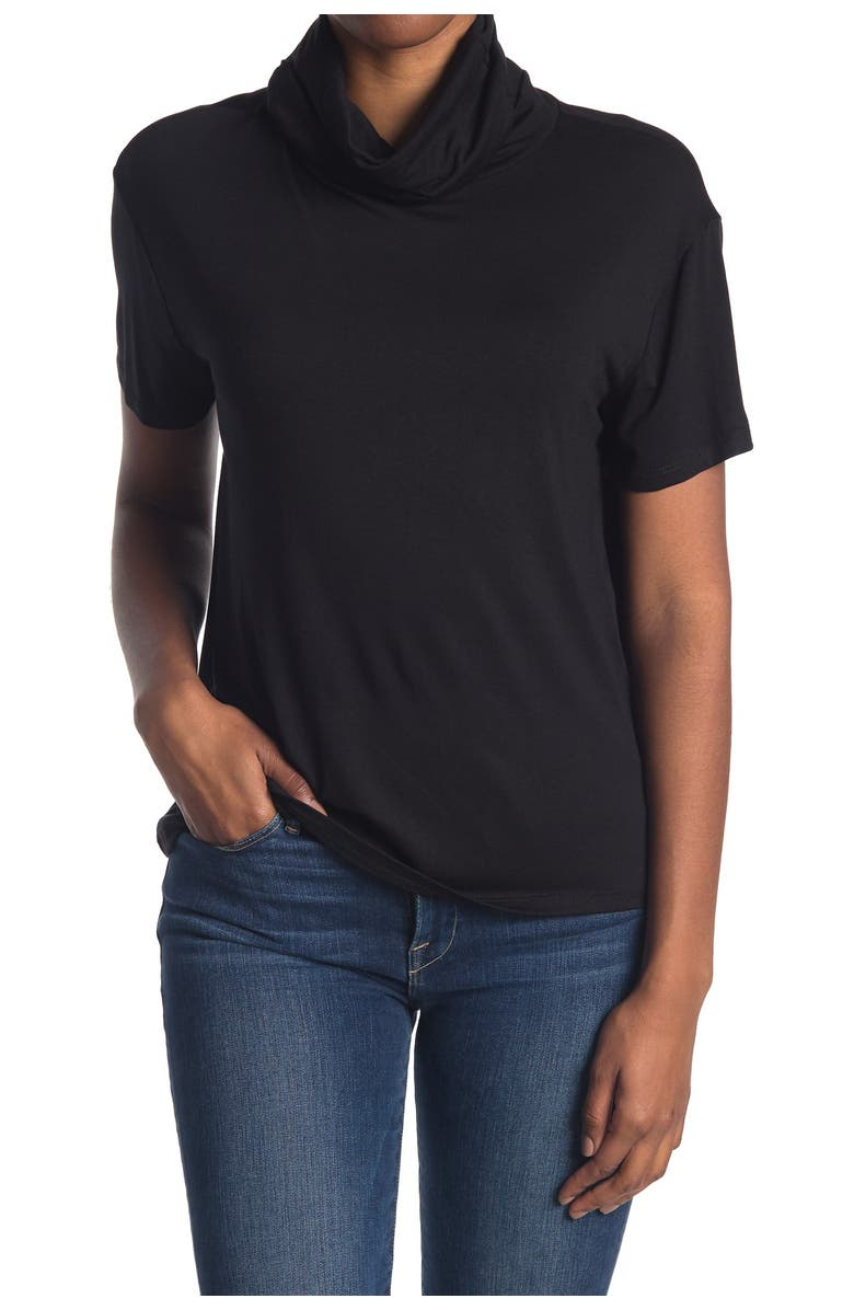 MAX AND ASH 2-In-1 Adult Face Mask Slouchy T-Shirt, Main, color, BLACK