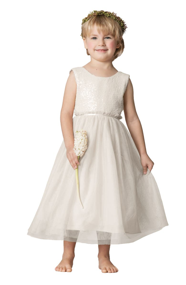 JENNY YOO Collection Rosalie Sequin & Tulle Dress, Main, color, 900