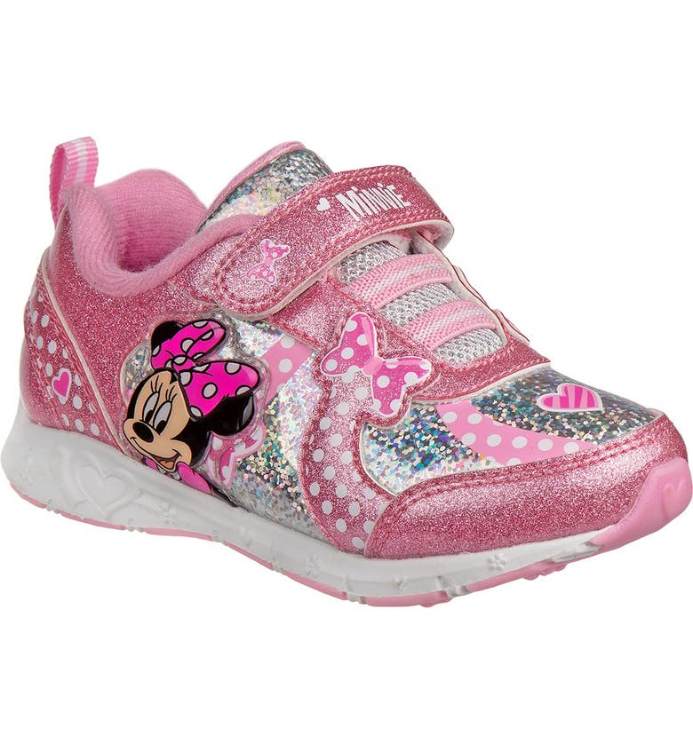JOSMO Minnie Mouse Sneaker, Main, color, PINK SILVER