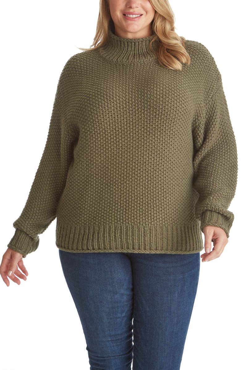 ADYSON PARKER Mock Neck Sweater, Main, color, OLIVITA