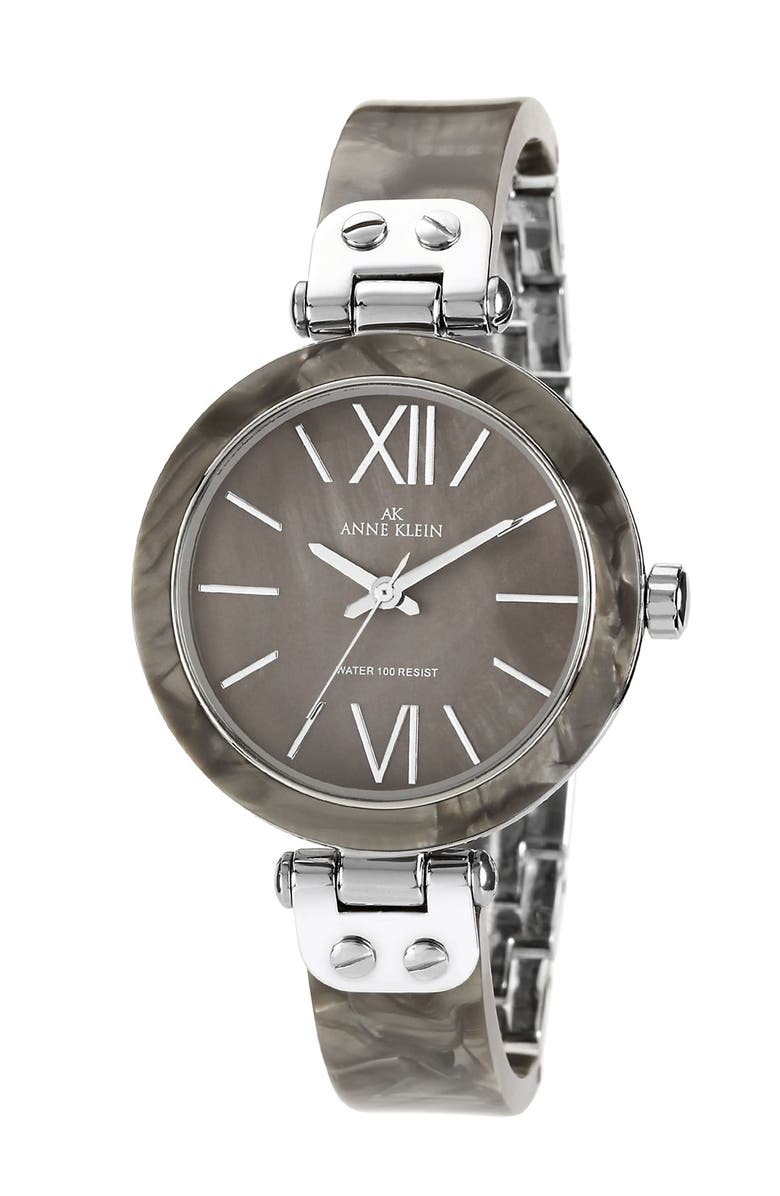 ANNE KLEIN Round Skinny Bangle Watch, 33mm, Main, color, 020