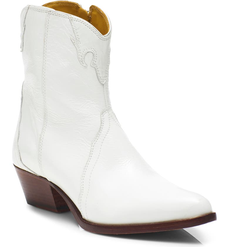 FREE PEOPLE New Frontier Western Bootie, Main, color, WHITE LEATHER