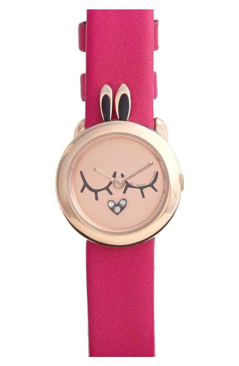 MARC JACOBS 'Critter' Bunny Dial Watch, 23mm, Main, color, 650