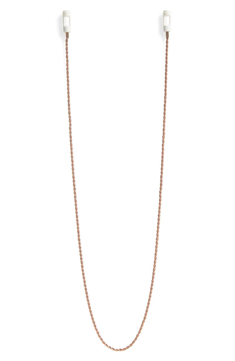 TAPPER AirPod Rope Chain, Main, color, 18K ROSE GOLD