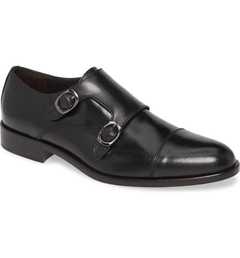TO BOOT NEW YORK Ronald Double Monk Strap Shoe, Main, color, Black