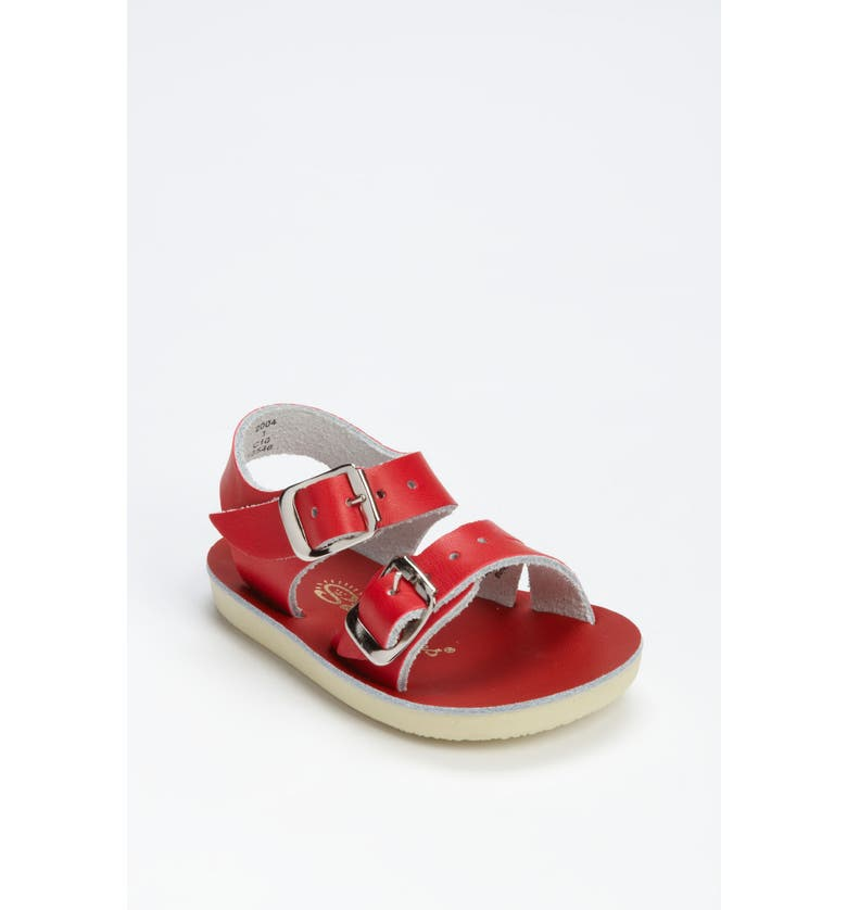 SALT WATER SANDALS BY HOY Sea Wee Water Friendly Sandal, Main, color, RED