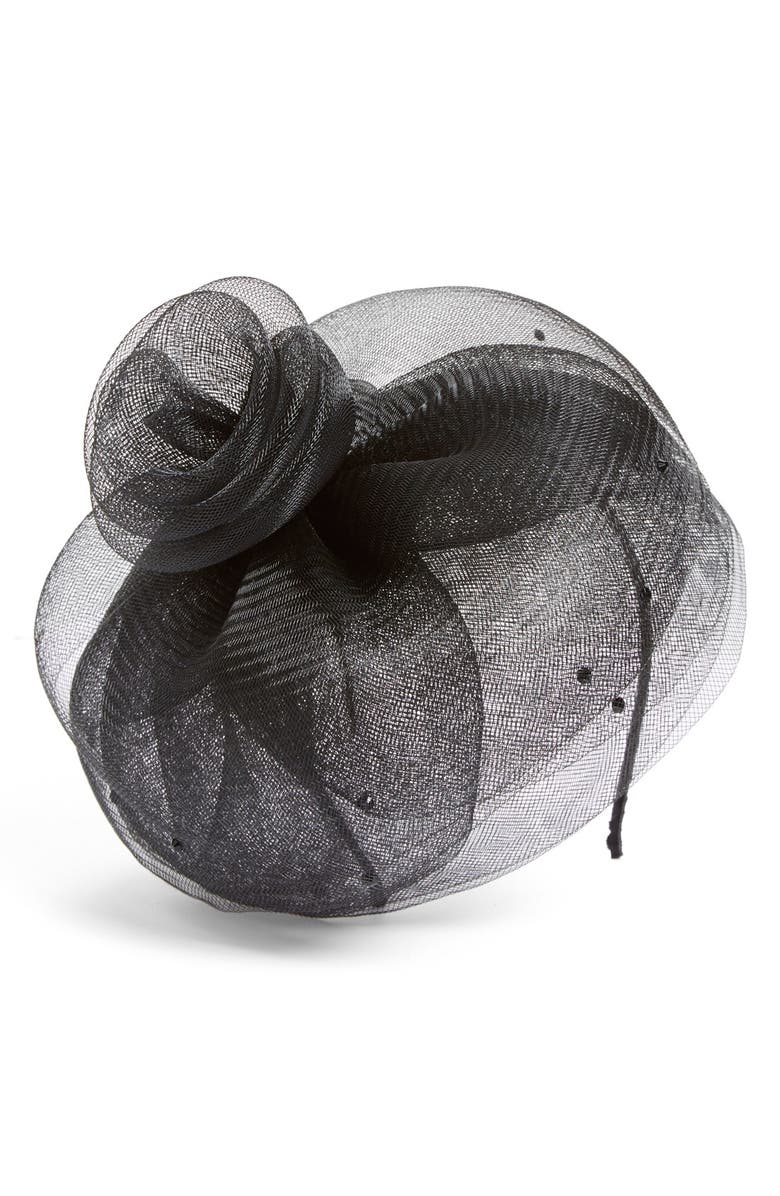 AUGUST HAT Crystal Embellished Floral Fascinator, Main, color, 001