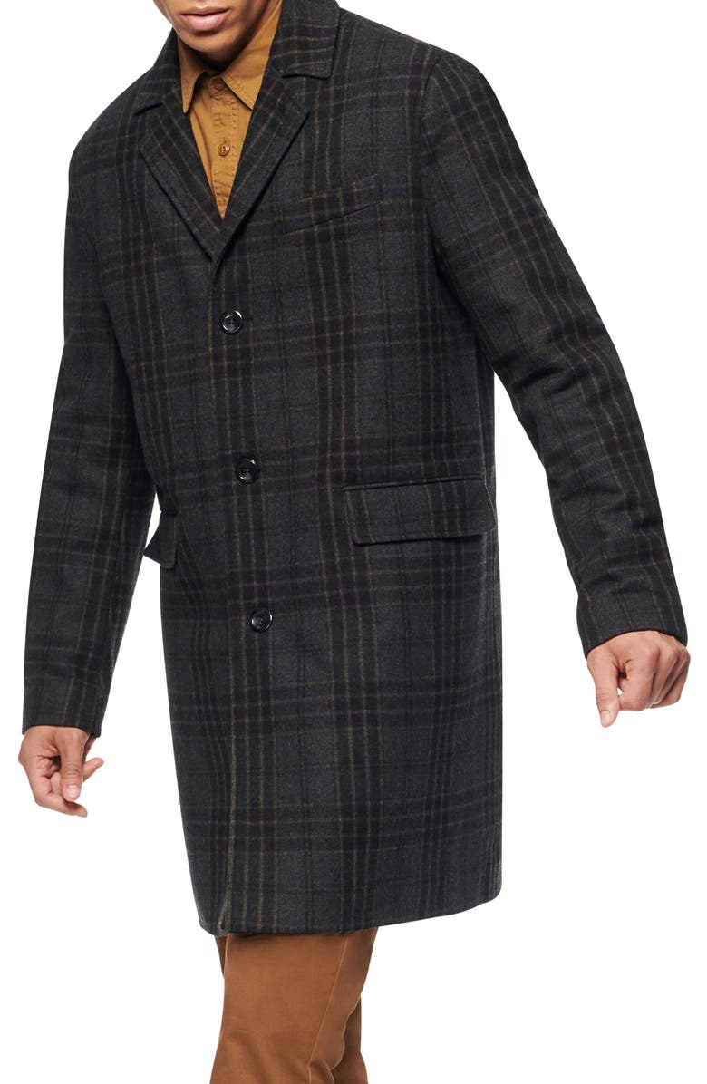 MARC NEW YORK Willemstad Plaid Peacoat, Main, color, 008