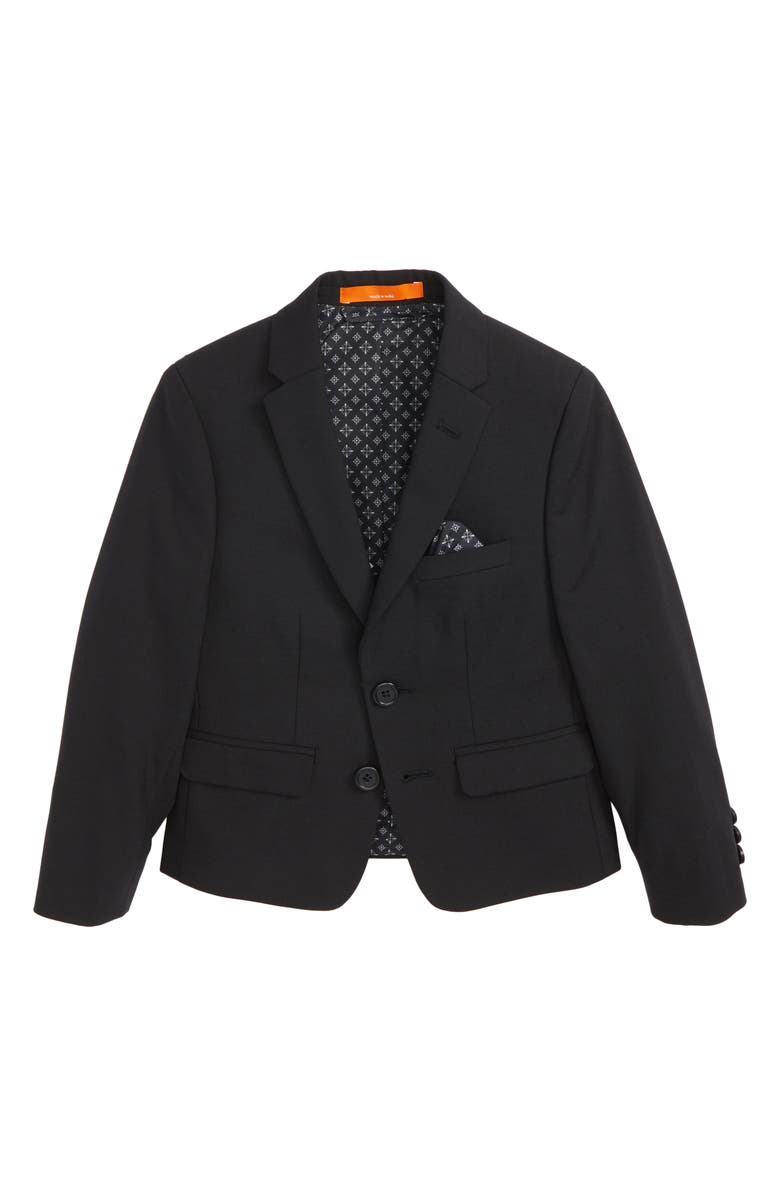TALLIA Solid Wool Blend Sport Coat, Main, color, BLACK