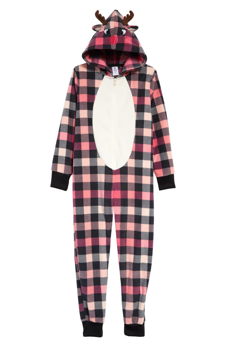 TUCKER + TATE Hooded One-Piece Pajamas, Main, color, 660
