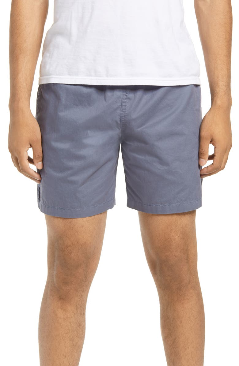 BP. Elastic Waist Shorts, Main, color, GREY GRISAILLE