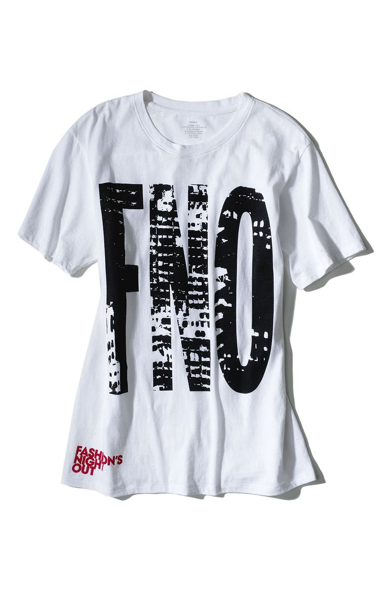 FNO COLLECTIONS Fashion's Night Out Official Collection T-Shirt, Main, color, White