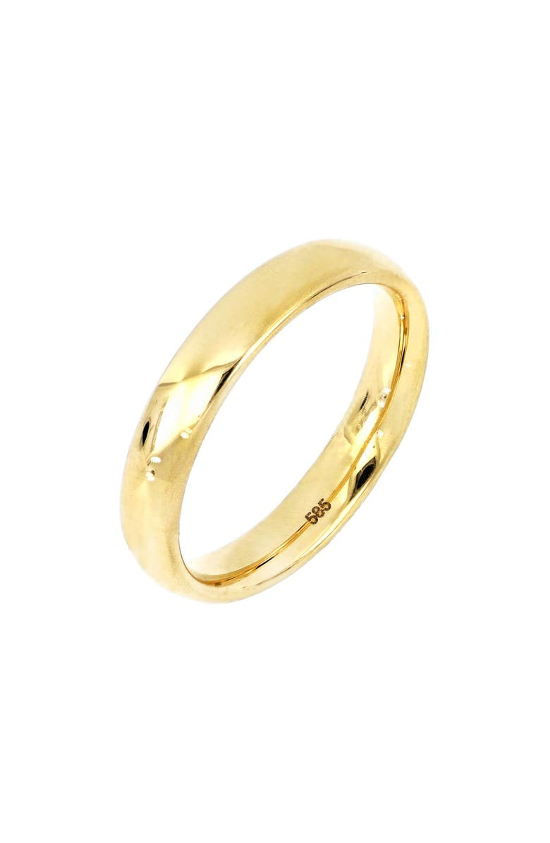 BONY LEVY 14K Gold Smooth Band Ring, Main, color, YELLOW GOLD