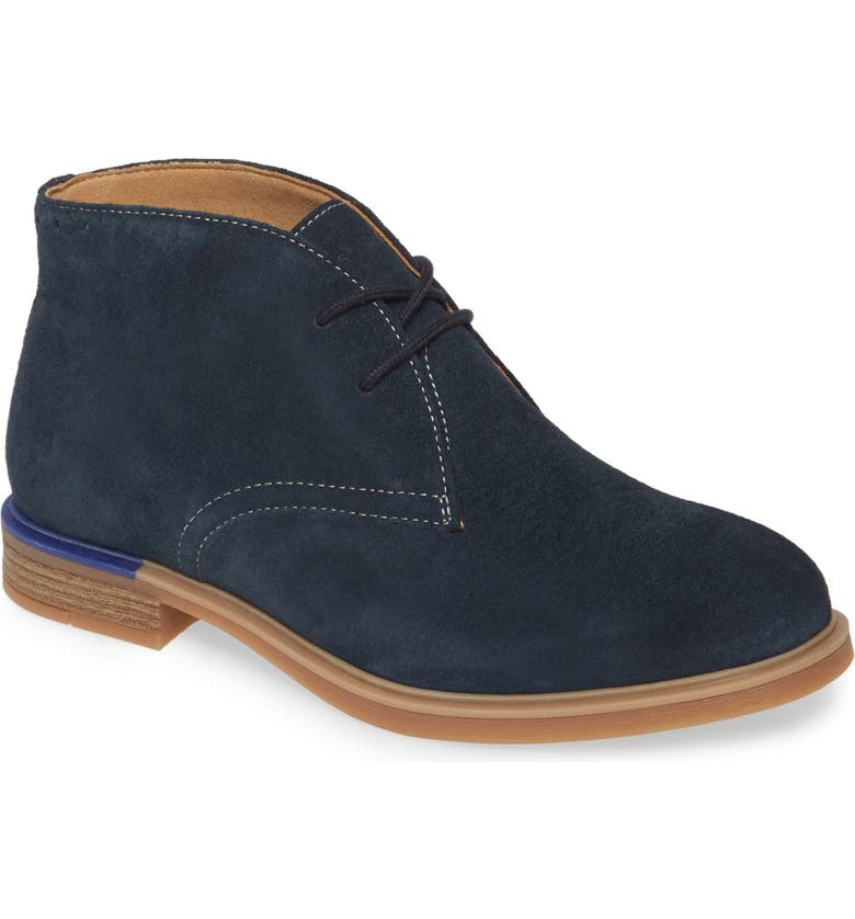 HUSH PUPPIES<SUP>®</SUP> Bailey Chukka Boot, Main, color, NAVY SUEDE