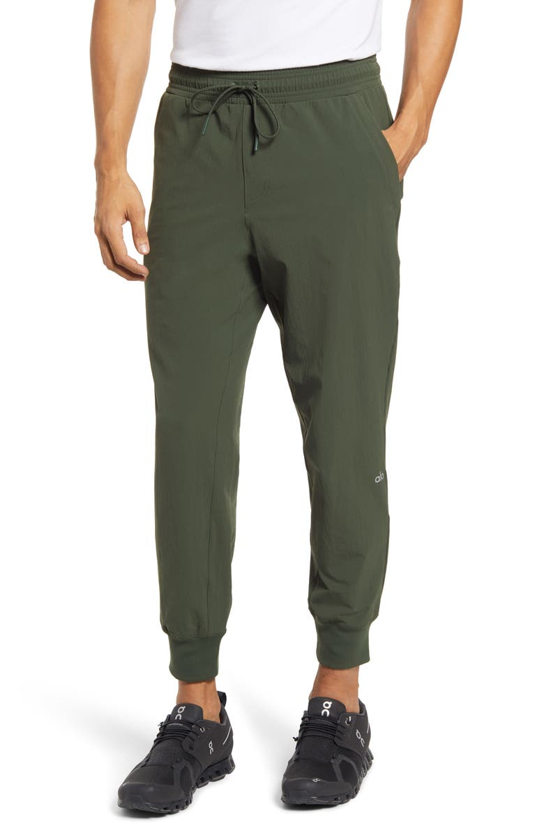 ALO Co-Op Water Repellent Pocket 7/8 Joggers, Main, color, HUNTER