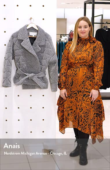 Marshal Metallic Quilted Coat, sales video thumbnail