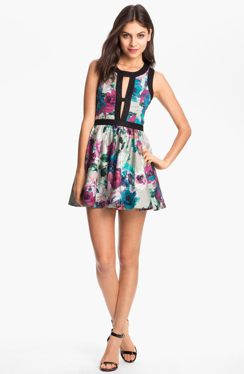 KEEPSAKE THE LABEL 'Day Dream' Print Fit & Flare Dress, Main, color, 001
