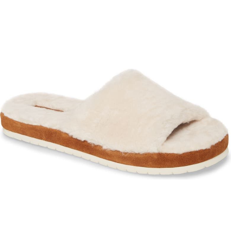VINCE Kalina Genuine Shearling Slipper, Main, color, TURTLEDOVE