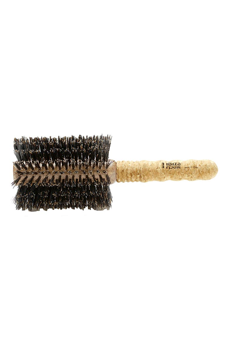 IBIZA HAIR Extra Large Extended Cork Round Brush, Main, color, No Color