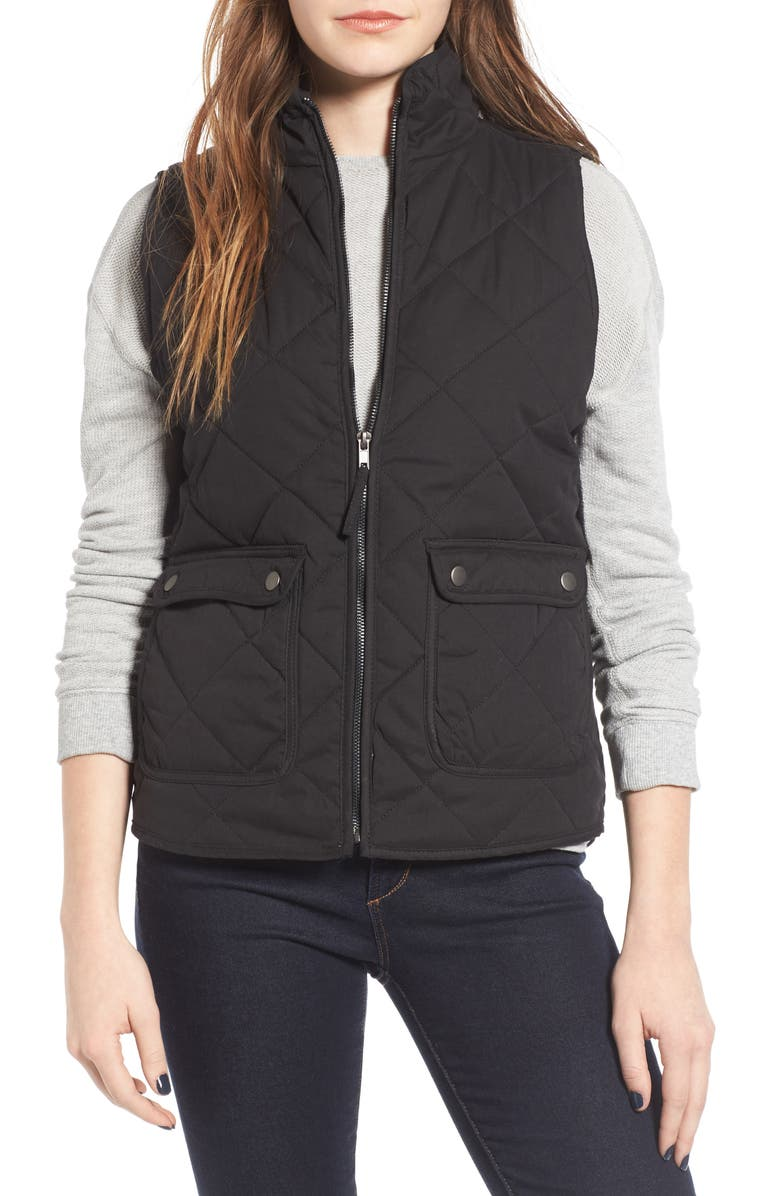 THREAD & SUPPLY Lancaster Quilted Vest, Main, color, Black