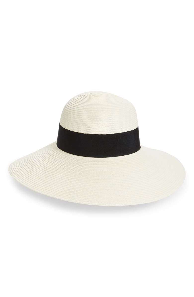 NORDSTROM Floppy Hat, Main, color, IVORY COMBO