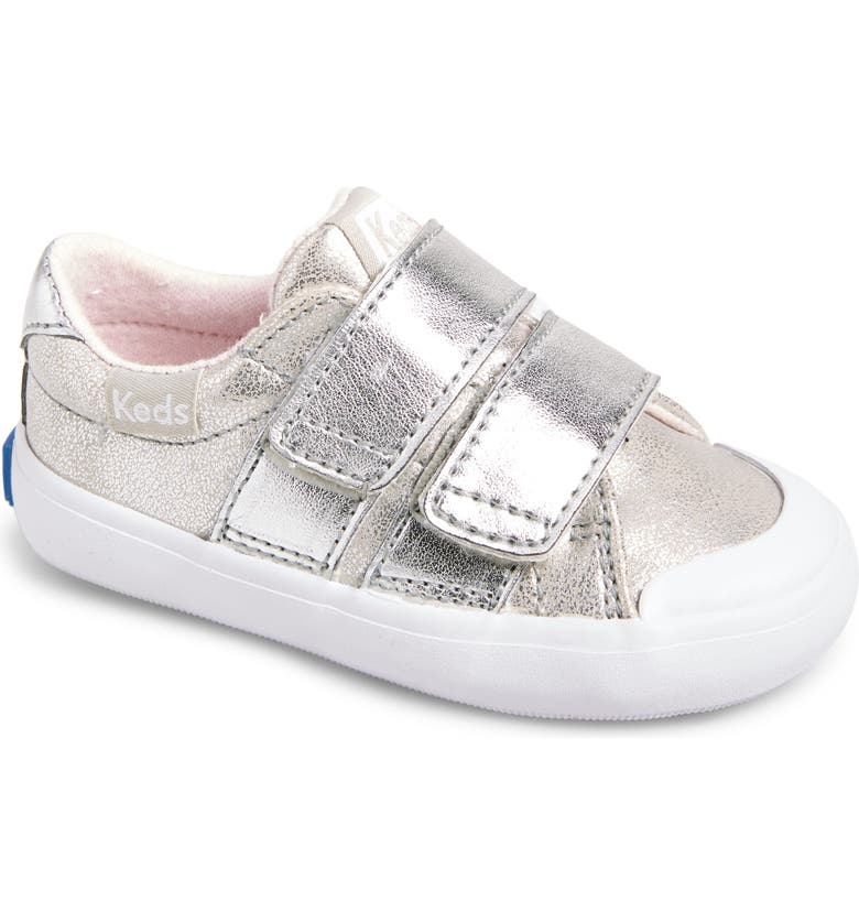 KEDS<SUP>®</SUP> Courtney Hook & Loop Sneaker, Main, color, Silver