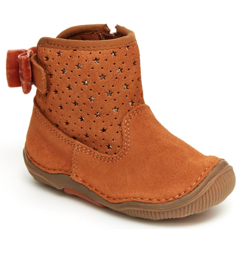 STRIDE RITE Angie Suede Star Boot, Main, color, TAN