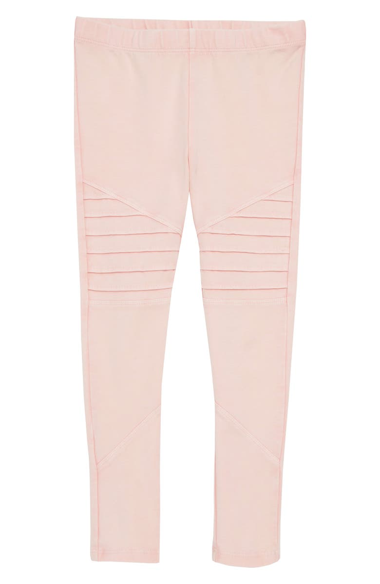 TUCKER + TATE Kids' Kids' Stretch Cotton Moto Leggings, Main, color, PINK PEACHSKIN WASH