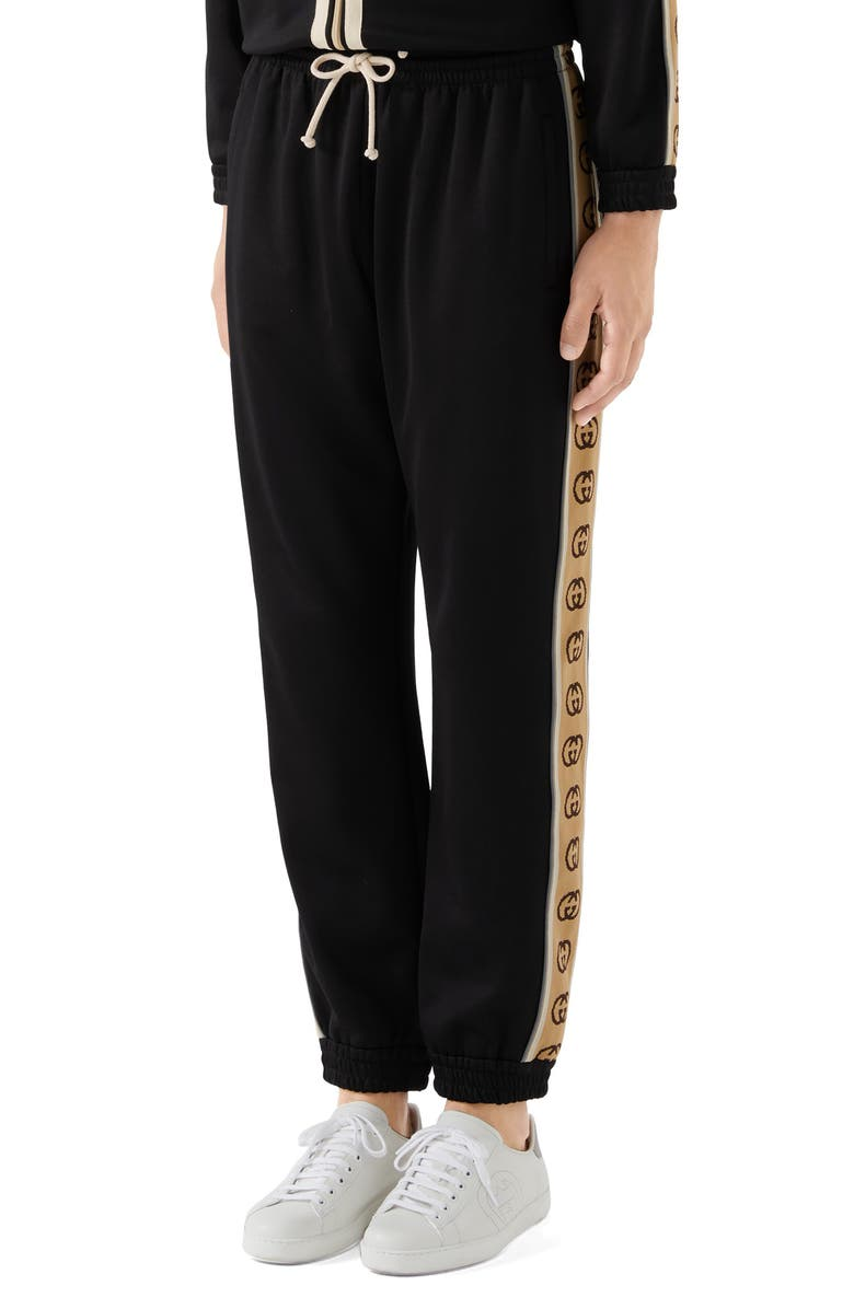 GUCCI Loose Technical Jersey Jogging Pants, Main, color, 001