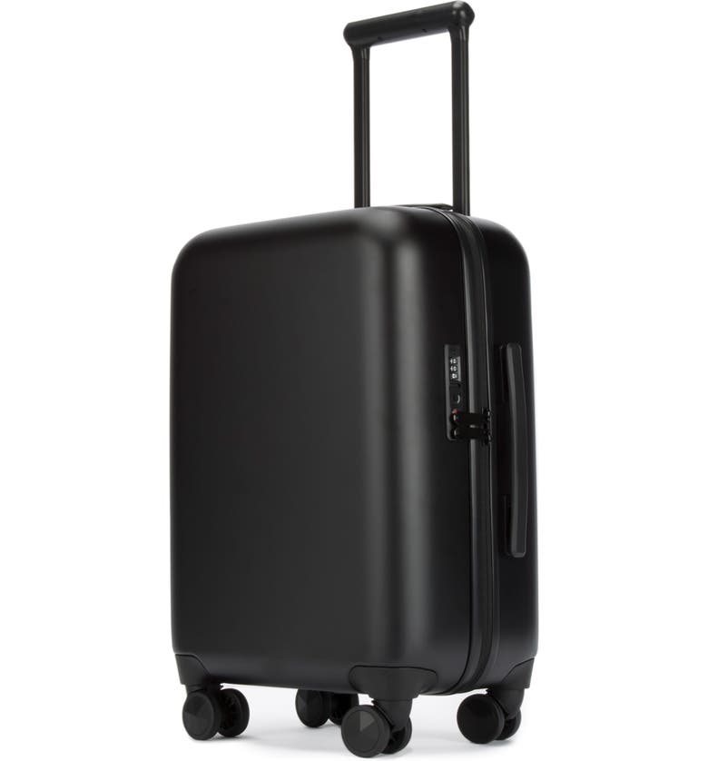 REBECCA MINKOFF So Connected 22-Inch Charging Spinner Suitcase, Main, color, 001