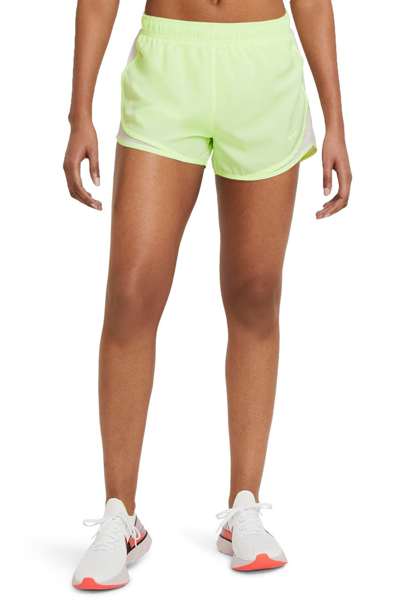 NIKE Dri-FIT Tempo Running Shorts, Main, color, BARELY VOLT/ LIGHT VIOLET