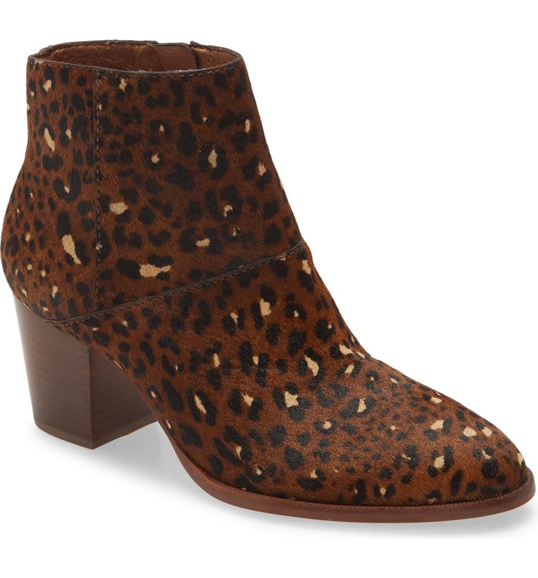 MADEWELL The Rosie Ankle Boot, Main, color, RICH BROWN MULTI CALF HAIR