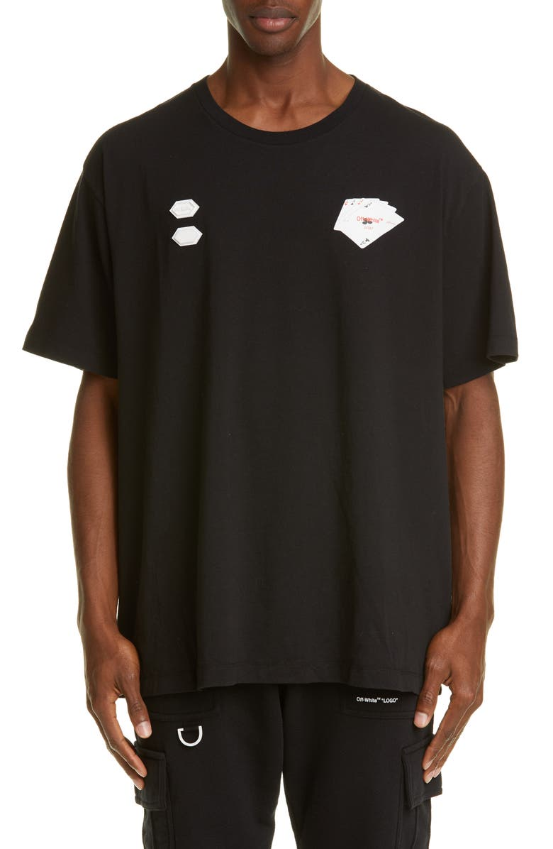 OFF-WHITE Hand Card T-Shirt, Main, color, 001