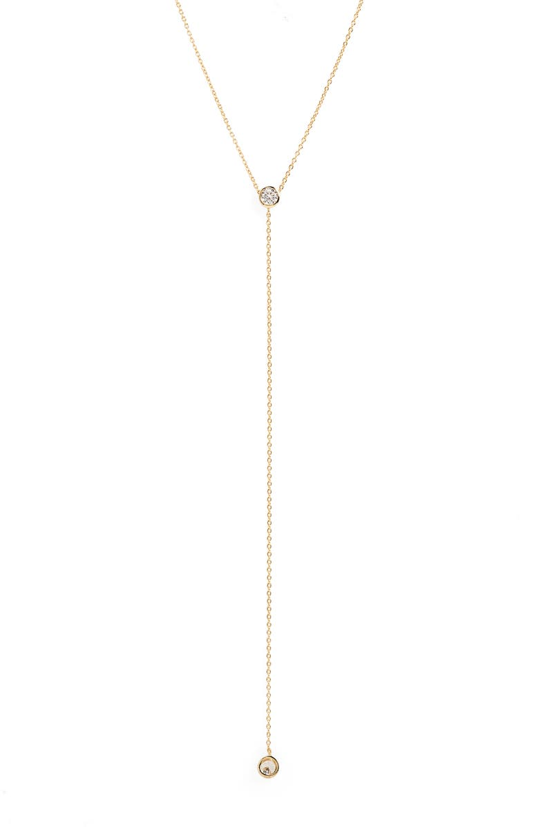 ADINA'S JEWELS Cubic Zirconia Lariat Necklace, Main, color, 710