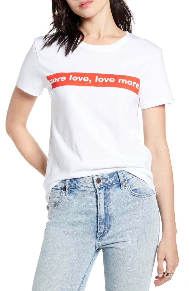 PRINCE PETER More Love Graphic Tee, Main, color, 100
