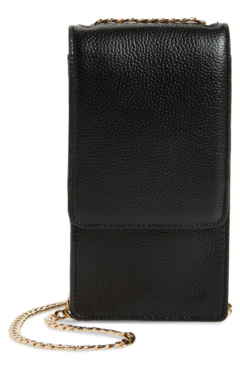 NORDSTROM Margaux Wallet on a Chain, Main, color, BLACK