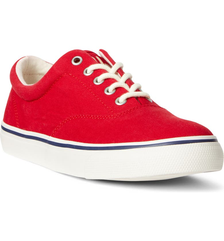 POLO RALPH LAUREN Harpoon Sneaker, Main, color, RL RED