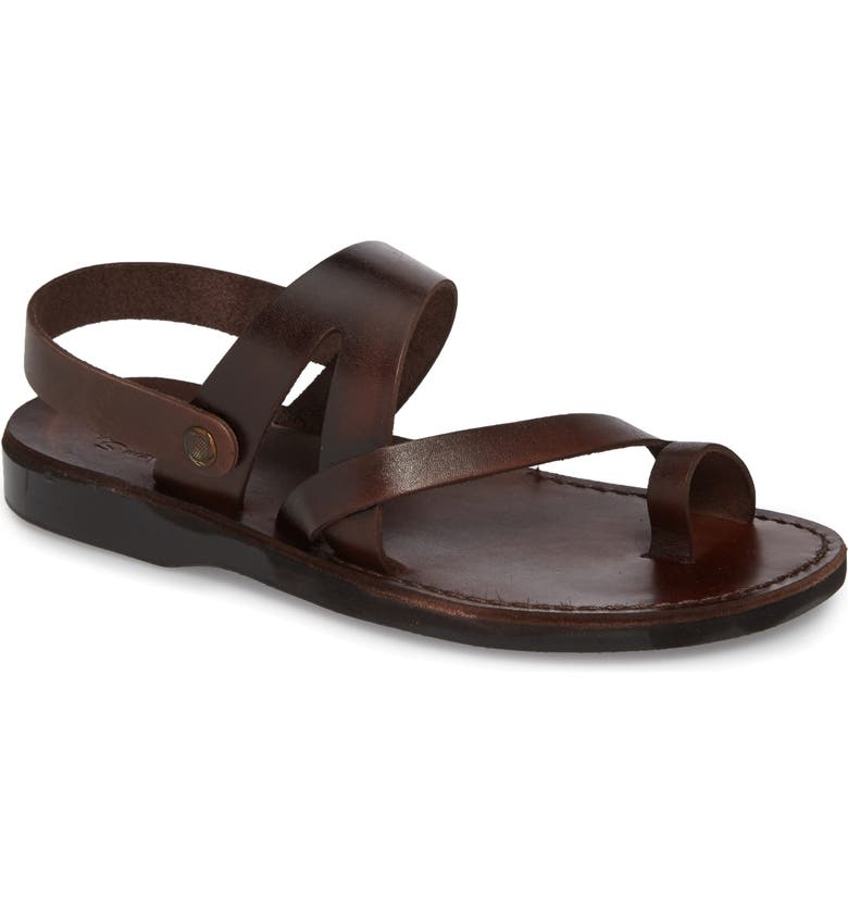 JERUSALEM SANDALS Benjamin Sandal, Main, color, BROWN LEATHER