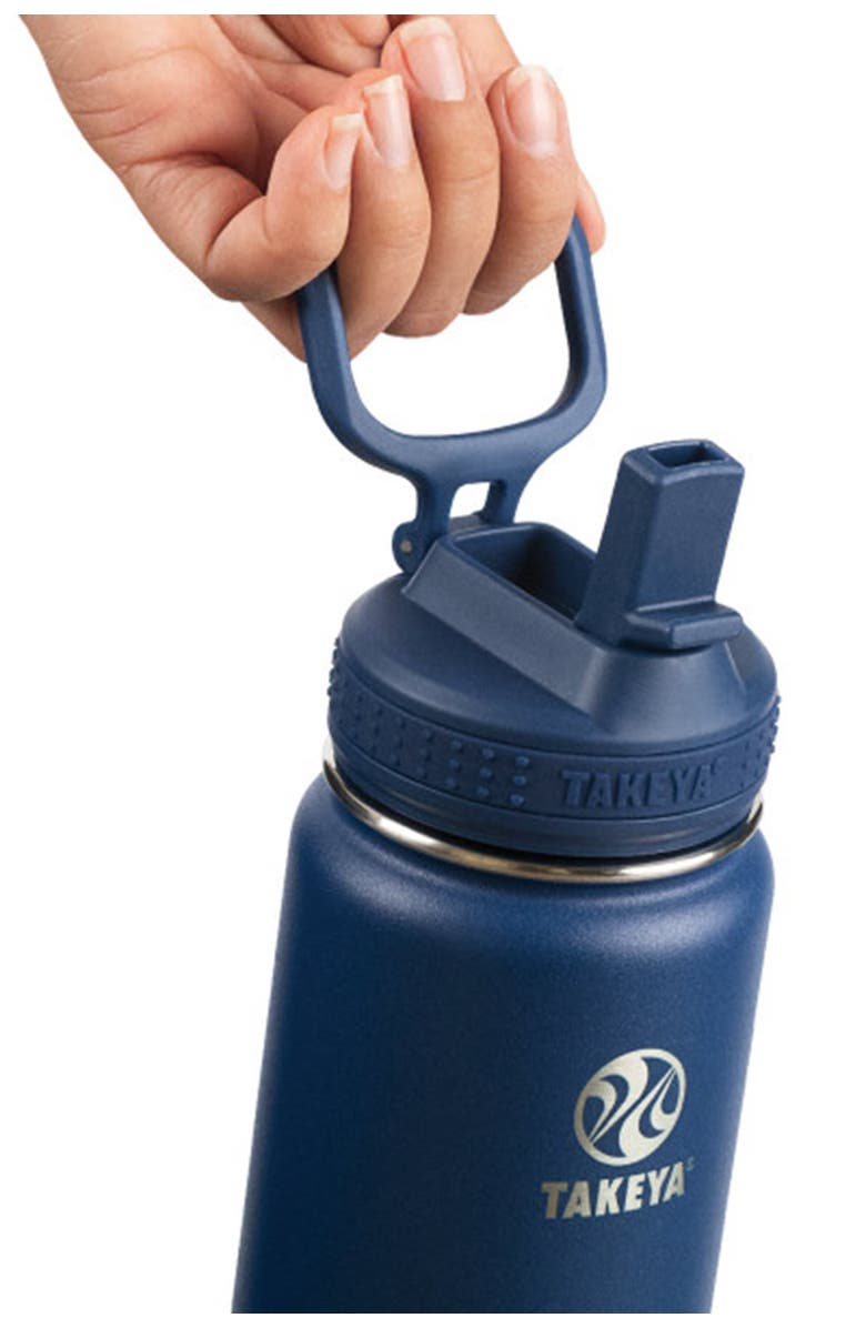 TAKEYA Midnight Actives Insulated 24 oz. Straw Lid Stainless Steel Bottle, Main, color, MIDNIGHT