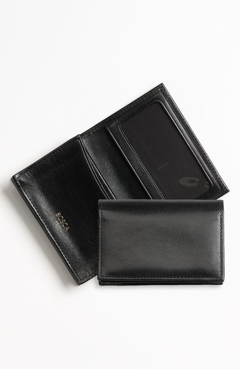 BOSCA Old Leather Gusset Wallet, Main, color, 001