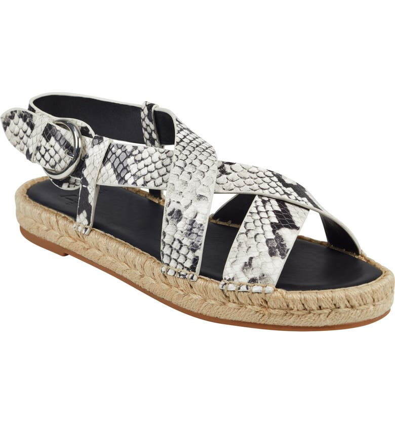 MARC FISHER LTD Tallia Espadrille Sandal, Main, color, GREY SNAKE PRINT LEATHER