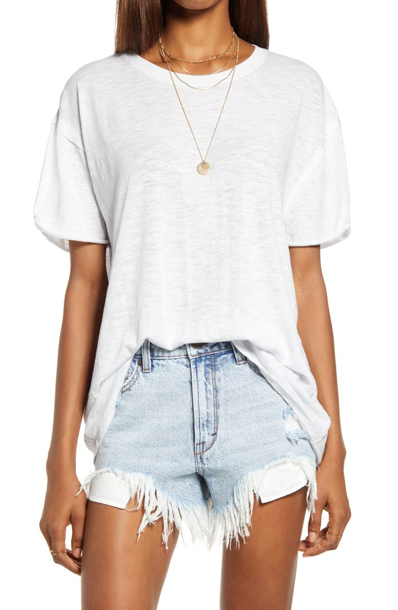 FREE PEOPLE Clarity Tee, Main, color, PALEST SAPPHIRE